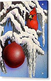 Cardinal One Ball Acrylic Print by Darren Robinson