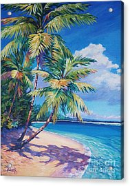 Caribbean Paradise Acrylic Print by John Clark