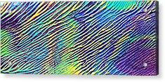caribbean waves Acryl blurred vision Acrylic Print by Sir Josef Social Critic - ART