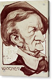 Caricature Of Richard Wagner Acrylic Print by Anonymous