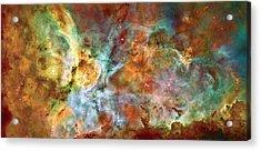 Carina Nebula - Interpretation 1 Acrylic Print by The  Vault - Jennifer Rondinelli Reilly