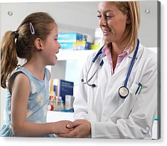 Caring Doctor Acrylic Print by Tek Image