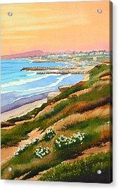 Carlsbad Coastline Acrylic Print by Mary Helmreich