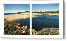 Carmel Lagoon Beach Acrylic Print by Logan Parsons