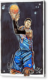 Carmelo Anthony Acrylic Print by Dave Olsen
