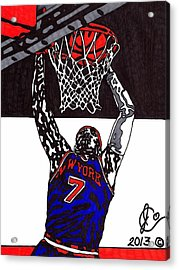 Carmelo Anthony Acrylic Print by Jeremiah Colley