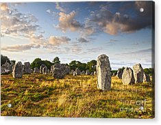 Carnac Alignments Brittany France Acrylic Print by Colin and Linda McKie