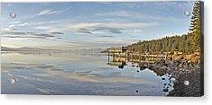 Carnelian Bay Morning Panorama Lake Tahoe Larry Darnell Acrylic Print by Larry Darnell