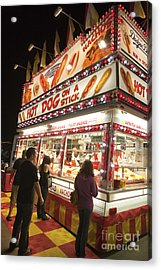 Carnival Hot Dog On A Stick Acrylic Print by Jason O Watson