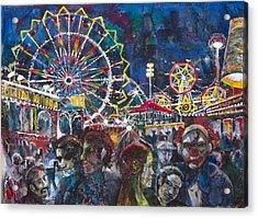 Carnival Acrylic Print by Patricia Allingham Carlson