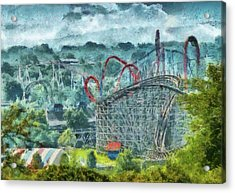 Carnival - The Thrill Ride Acrylic Print by Mike Savad