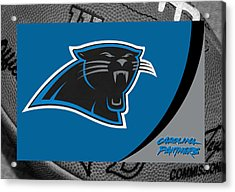 Carolina Panthers Acrylic Print by Joe Hamilton
