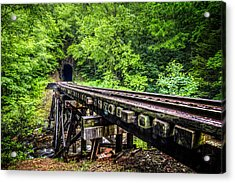 Carolina Railroad Trestle Acrylic Print by Debra and Dave Vanderlaan