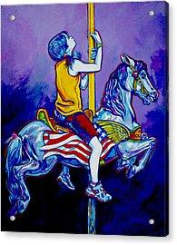 Carousel Acrylic Print by Derrick Higgins