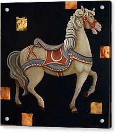 Carousel Horse Acrylic Print by Gerry High