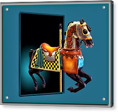 Carousel Horse Left Side Acrylic Print by Thomas Woolworth