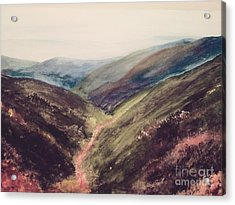 Carpathian Valleys Acrylic Print by Trilby Cole
