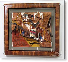 Carpenters Lament Acrylic Print by Bill Czappa