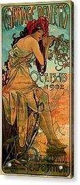 Carriage Dealers Acrylic Print by Alphonse Marie Mucha