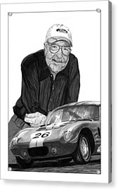 Carroll Shelby    Rest In Peace Acrylic Print by Jack Pumphrey