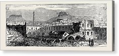 Carthagena After The Siege Scene Of Explosion Of Artillery Acrylic Print by English School