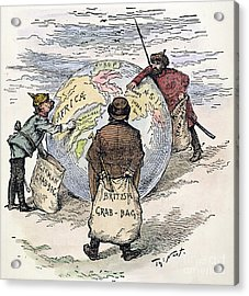 Cartoon - Imperialism 1885 Acrylic Print by Granger