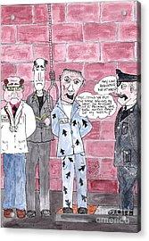 Cartoon Acrylic Print by Alan Wilkinson