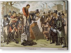 Cartoon Slave Labor, 1884 Acrylic Print by Granger