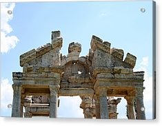 Carved Marble Of The Monumental Gate Acrylic Print by Tracey Harrington-Simpson