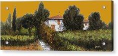 Casa Al Tramonto Acrylic Print by Guido Borelli