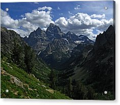 Cascade Canyon North Fork Acrylic Print by Raymond Salani III