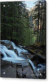 Cascading Mountain Falls Acrylic Print by Mike Reid