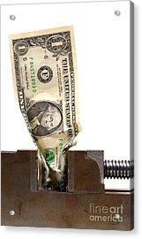 Cash Crunch Acrylic Print by Olivier Le Queinec
