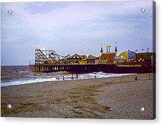 Casino Pier Boardwalk - Seaside Heights Nj Acrylic Print by Glenn Feron