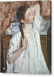Cassatt, Mary Stevenson 1845-1926. Girl Acrylic Print by Everett