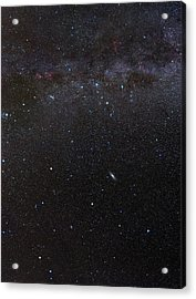 Cassiopeia Constellation And Andromeda Acrylic Print by Eckhard Slawik