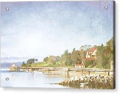 Castine Harbor Maine Acrylic Print by Carol Leigh