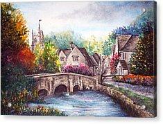 Castle Combe Acrylic Print by Ann Marie Bone