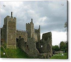 Castle Curtain Wall Acrylic Print by Ann Horn