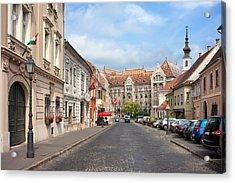 Castle District In Budapest Acrylic Print by Artur Bogacki