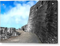 Castle In Puerto Rico Acrylic Print by Bruce Nutting