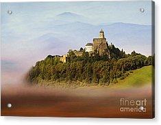 Castle In The Air Iv. - Lubovna Castle Acrylic Print by Martin Dzurjanik
