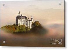Castle In The Air Vi. - Neuschwanstein Castle Acrylic Print by Martin Dzurjanik