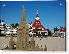 Castle In The Sand Acrylic Print by See My  Photos