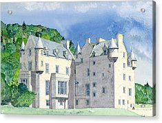 Castle Menzies Acrylic Print by David Herbert