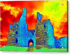 Thermal Sky And Ruins Acrylic Print by Online Presents