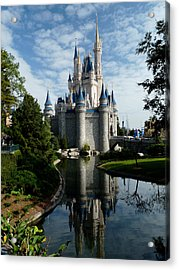 Castle Reflections Acrylic Print by Nora Martinez