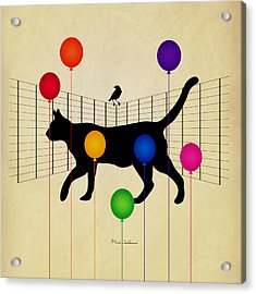 cat Acrylic Print by Mark Ashkenazi