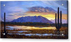 Catalina Sunrise Acrylic Print by Judy Filarecki
