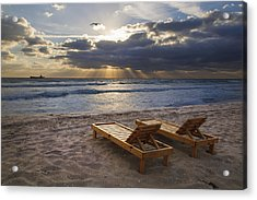 Catching Rays Acrylic Print by Debra and Dave Vanderlaan